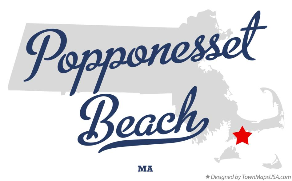 Map of Popponesset Beach Massachusetts MA