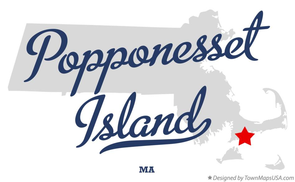 Map of Popponesset Island Massachusetts MA