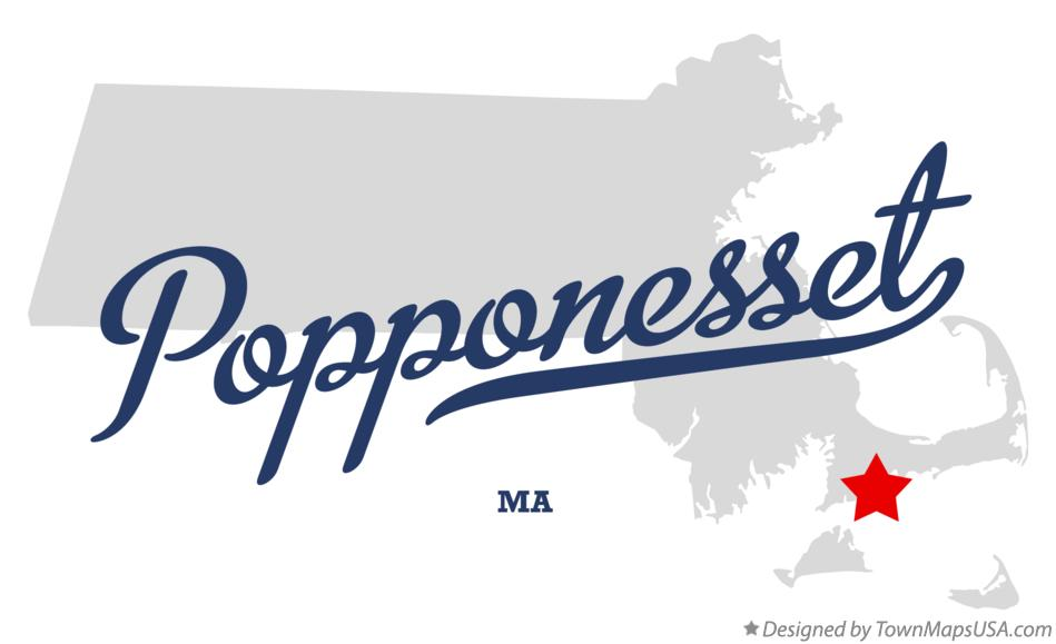 Map of Popponesset Massachusetts MA