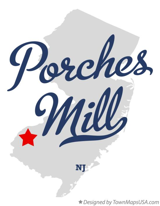 Map of Porches Mill New Jersey NJ