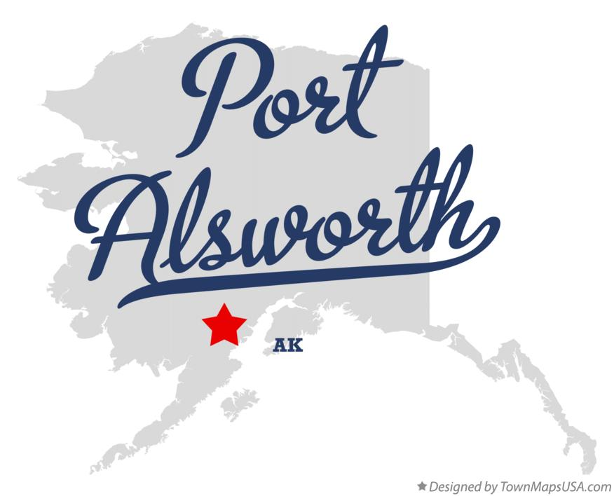Map of Port Alsworth Alaska AK