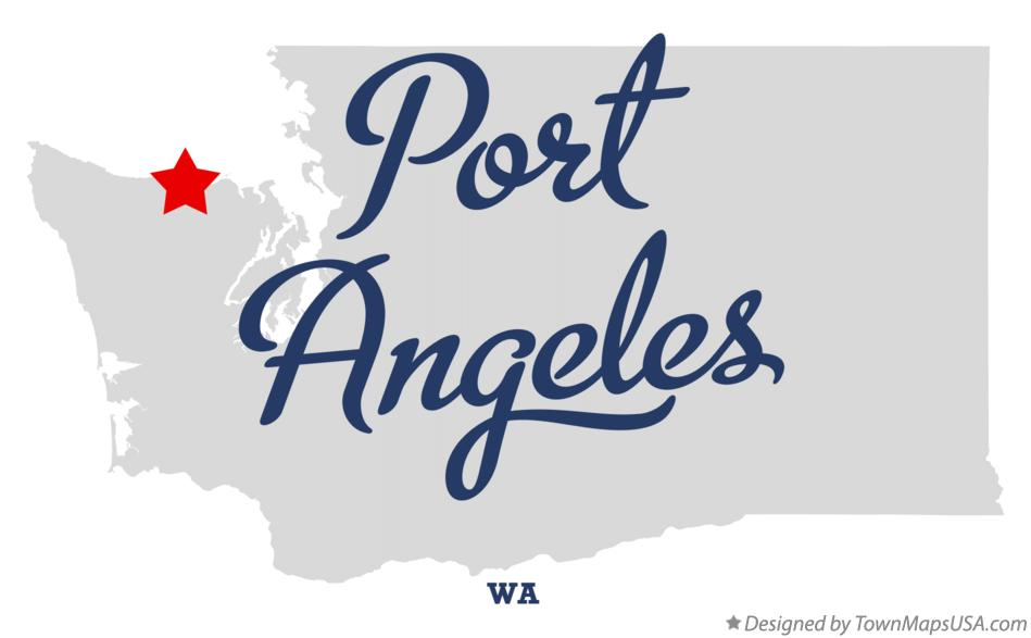 Map of Port Angeles Washington WA