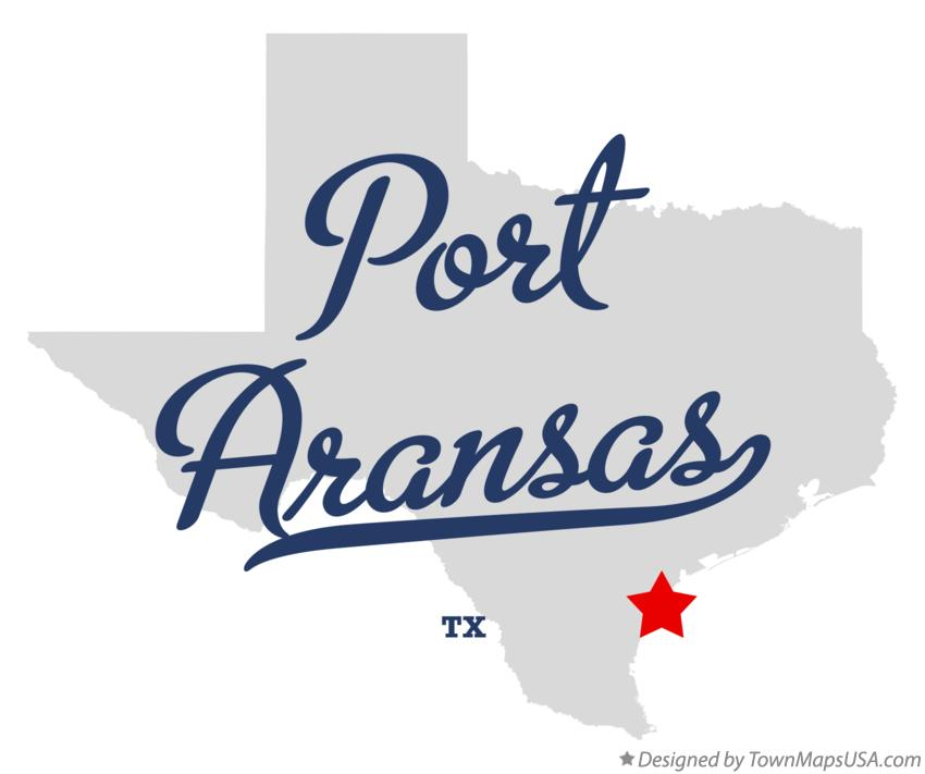 Map of Port Aransas Texas TX