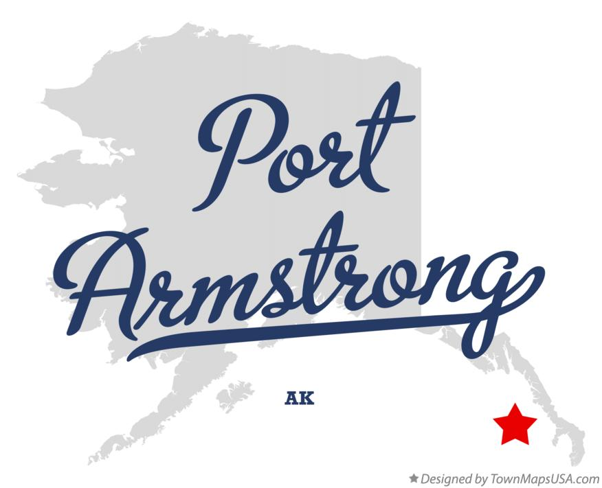 Map of Port Armstrong Alaska AK