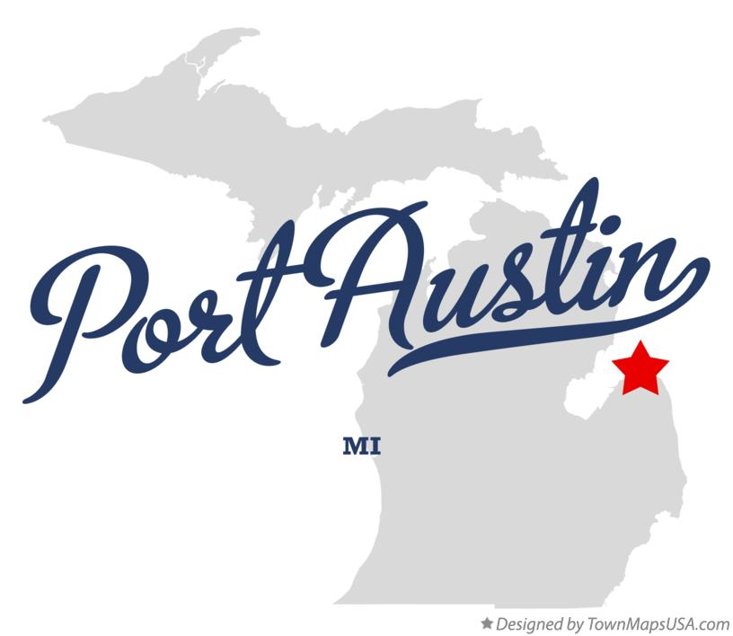 Map of Port Austin Michigan MI