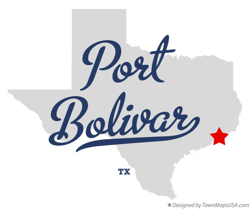 Map of Port Bolivar Texas TX