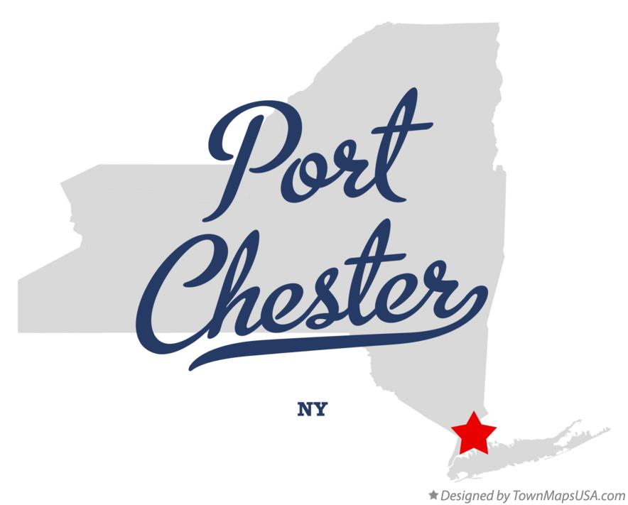 Map of Port Chester New York NY