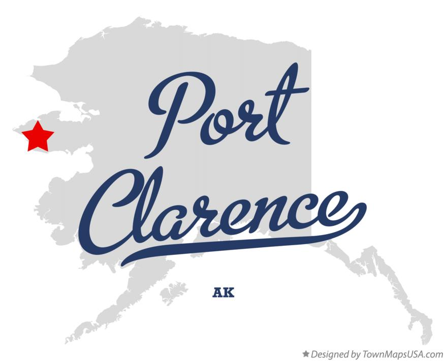Map of Port Clarence Alaska AK
