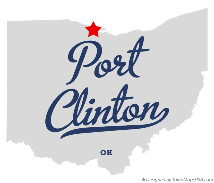 Map of Port Clinton Ohio OH