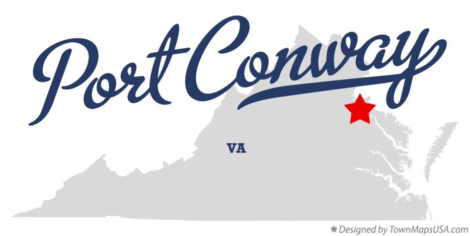 Map of Port Conway Virginia VA