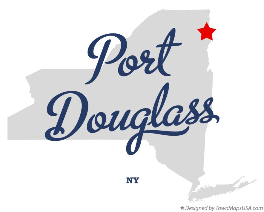 Map of Port Douglass New York NY
