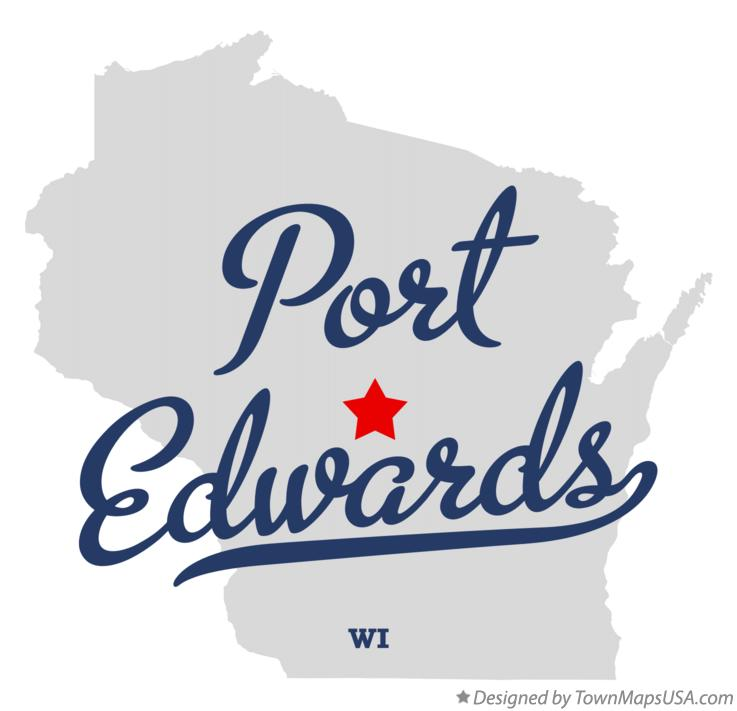 Map of Port Edwards Wisconsin WI