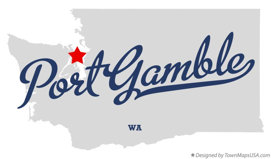 Map of Port Gamble Washington WA