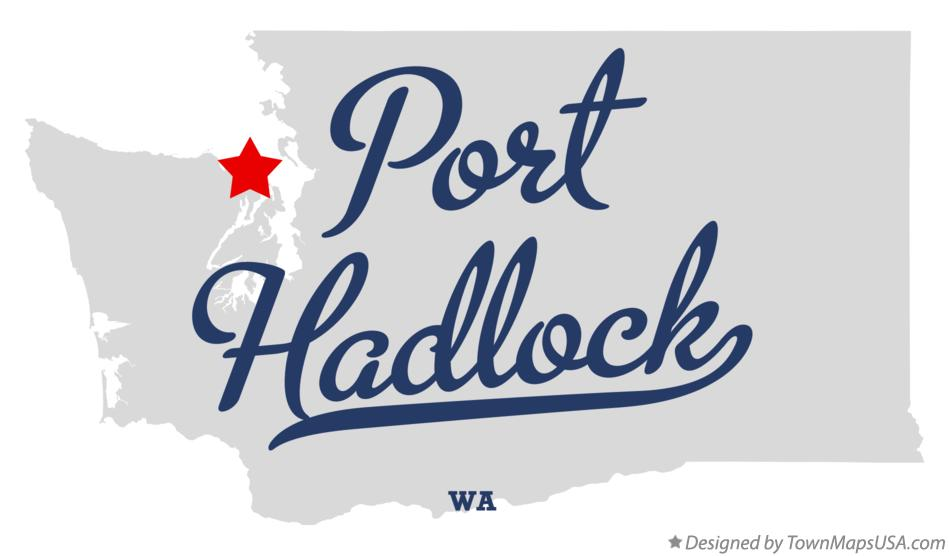 Map of Port Hadlock Washington WA