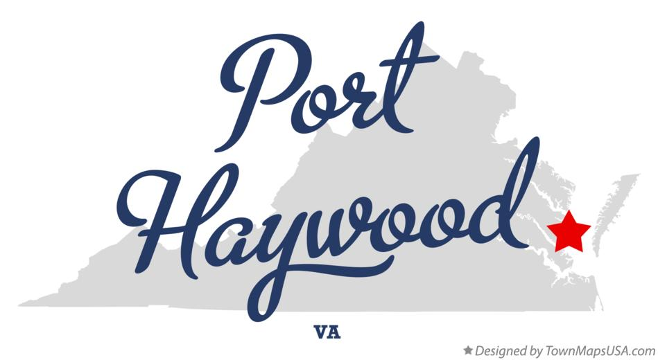 Map of Port Haywood Virginia VA