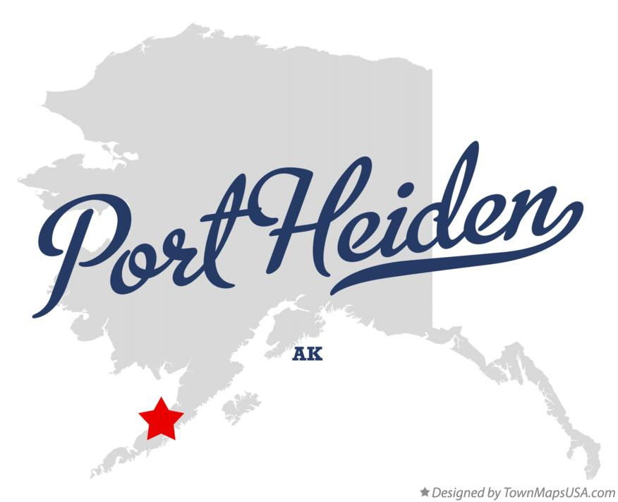 Map of Port Heiden Alaska AK