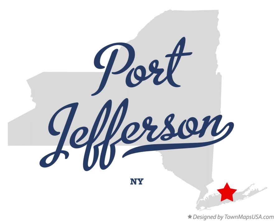 Map of Port Jefferson New York NY