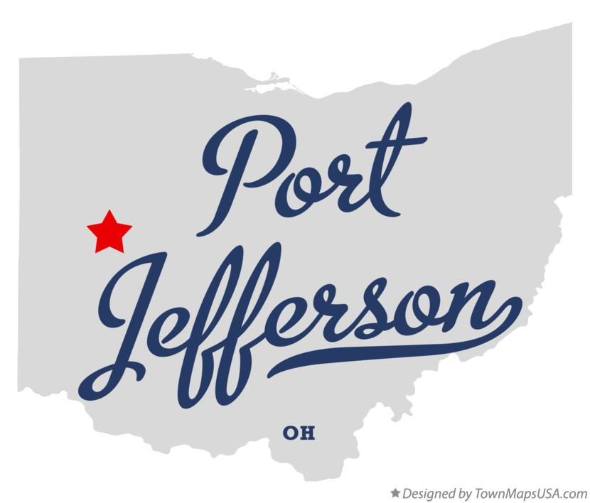 Map of Port Jefferson Ohio OH