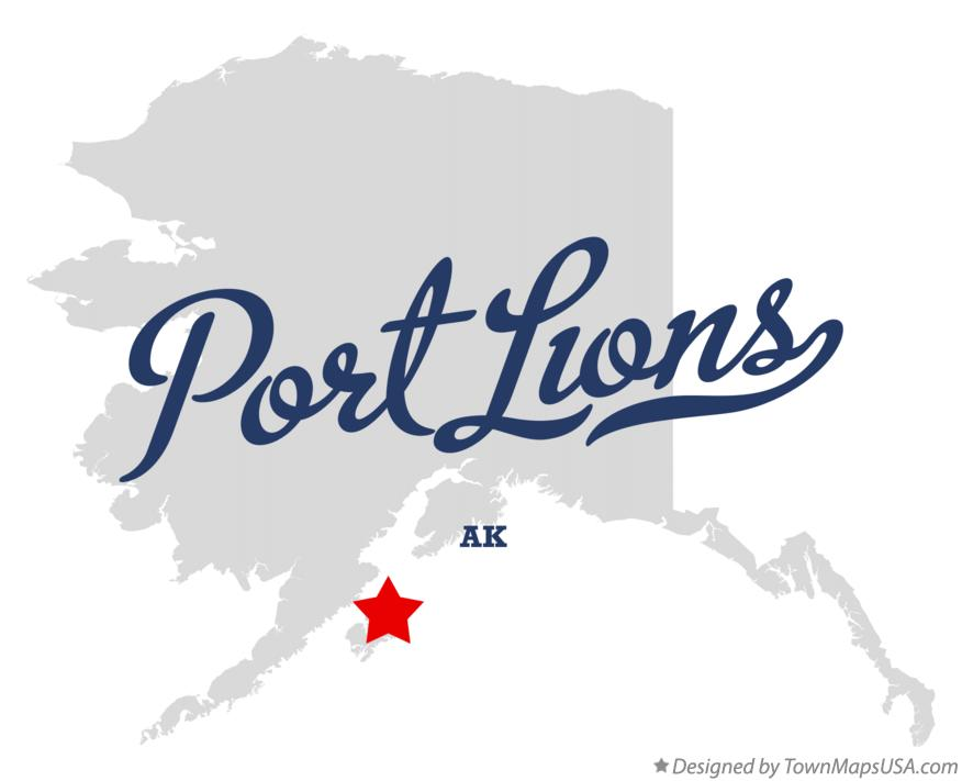 Map of Port Lions Alaska AK