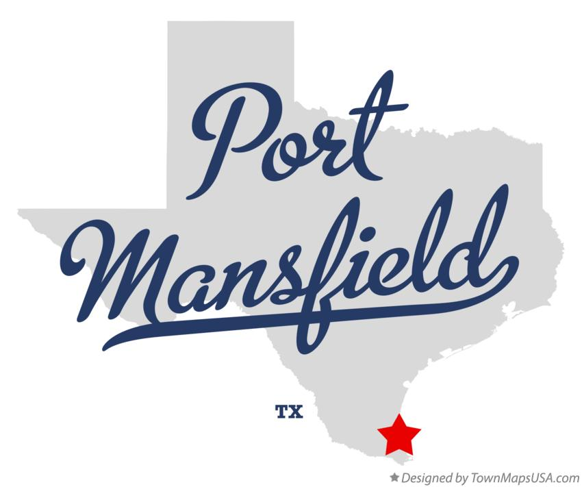 Map of Port Mansfield Texas TX