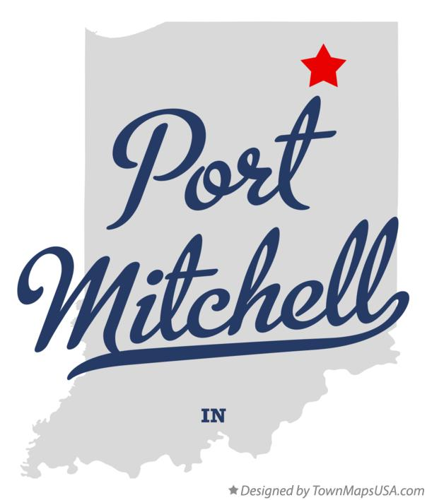 Map of Port Mitchell Indiana IN