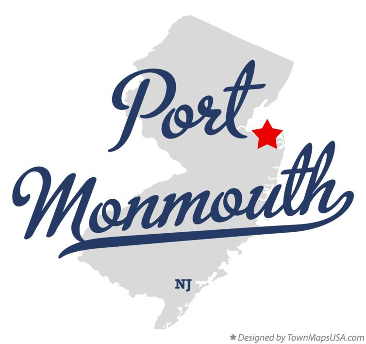 Map of Port Monmouth New Jersey NJ