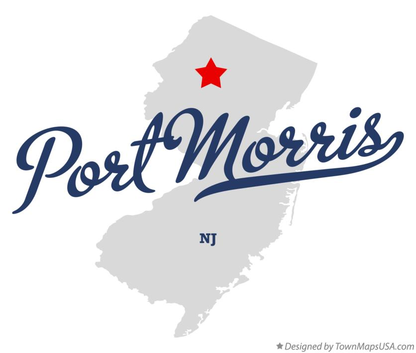 Map of Port Morris New Jersey NJ