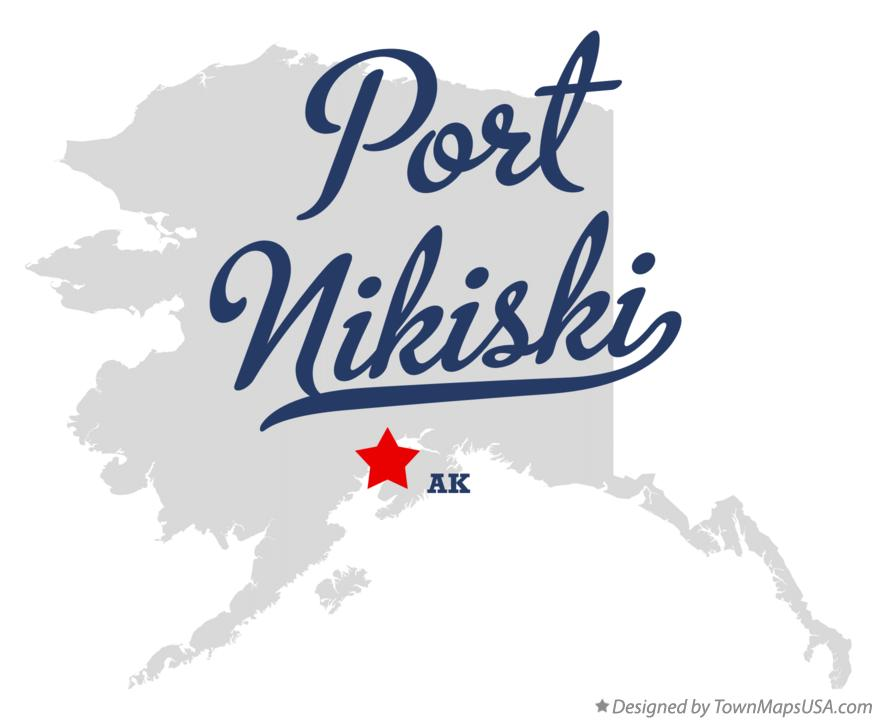 Map of Port Nikiski Alaska AK