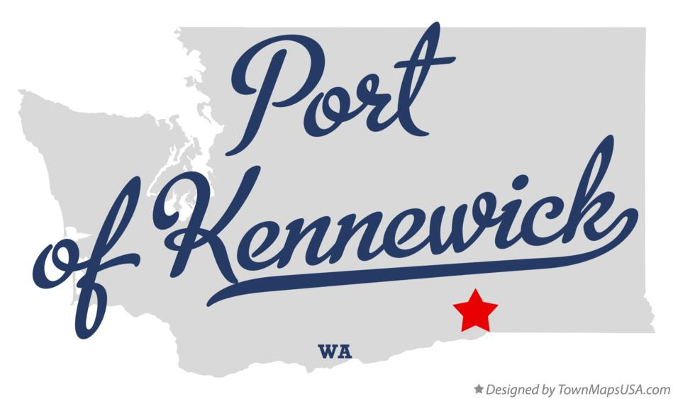 Map of Port of Kennewick Washington WA