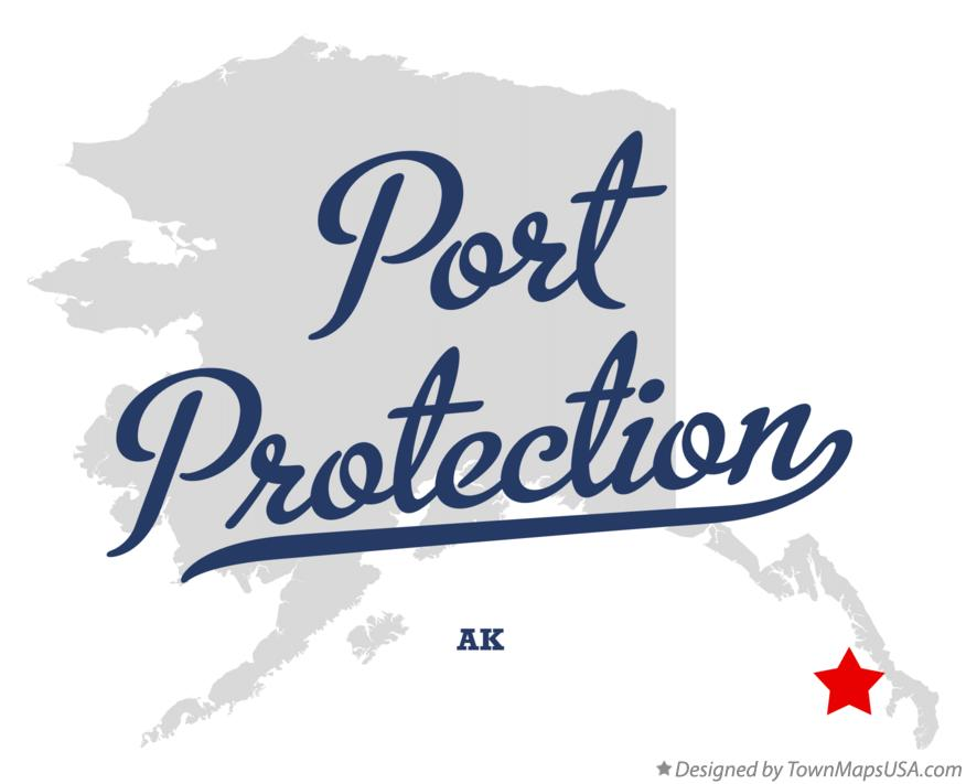 Map of Port Protection Alaska AK