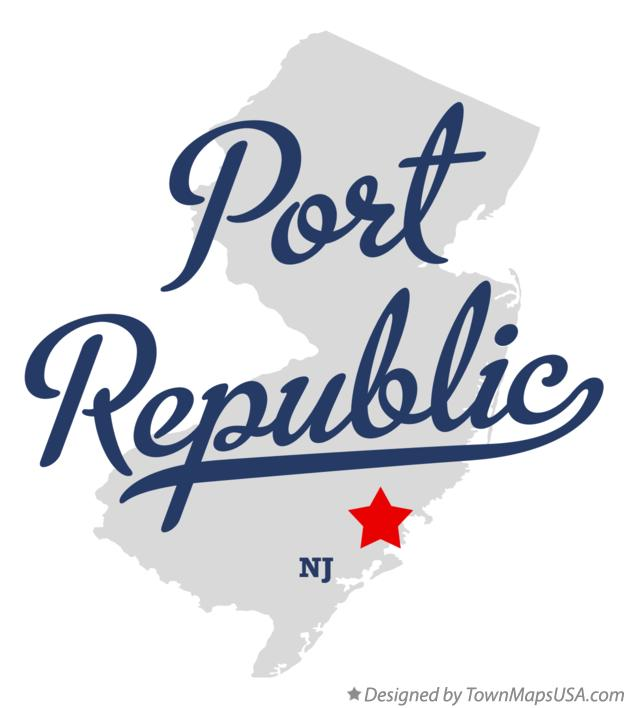Map of Port Republic New Jersey NJ