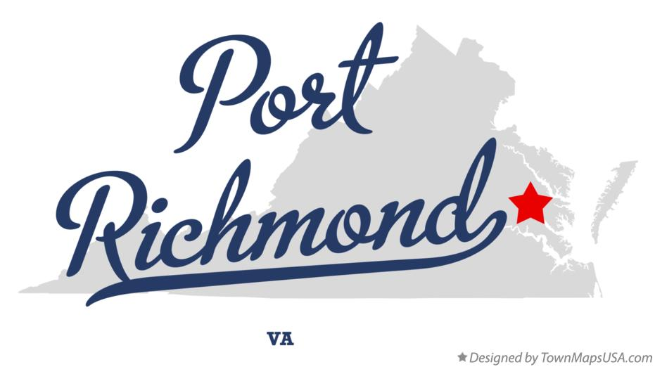 Map of Port Richmond Virginia VA