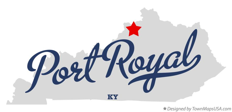 Map of Port Royal Kentucky KY