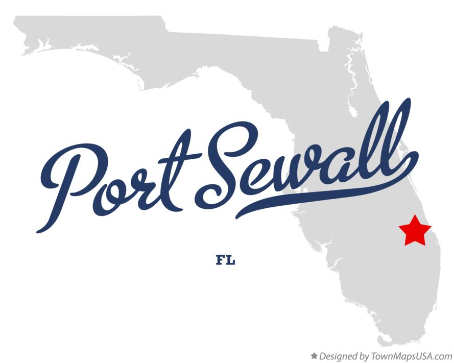 Map of Port Sewall Florida FL