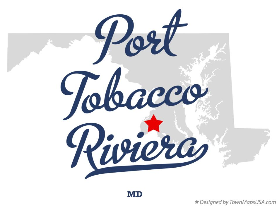 Map of Port Tobacco Riviera Maryland MD