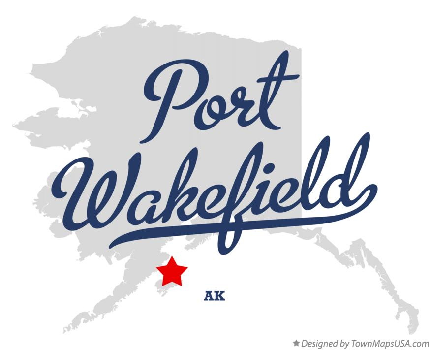Map of Port Wakefield Alaska AK