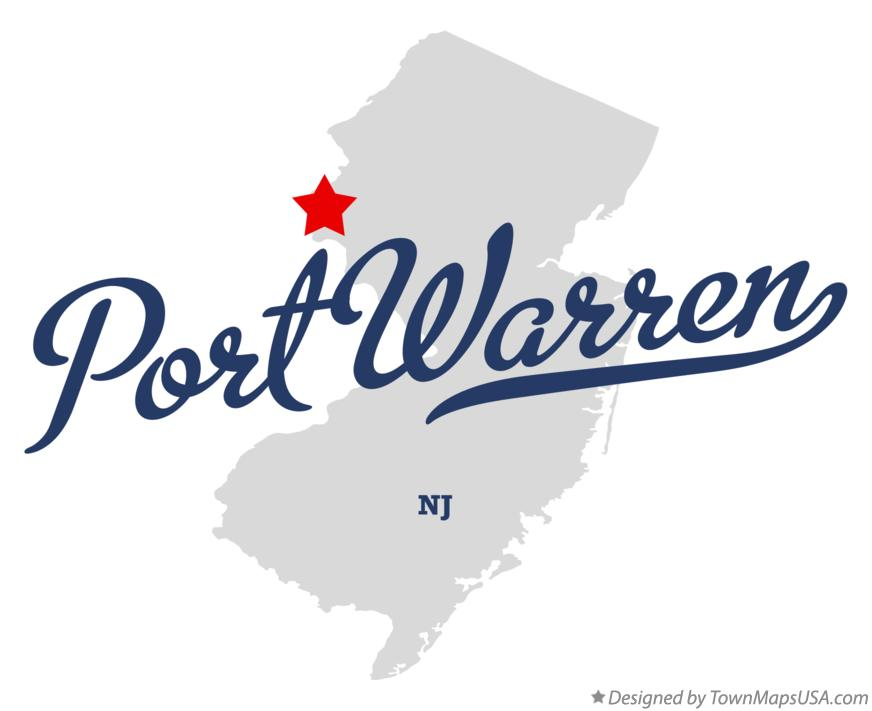 Map of Port Warren New Jersey NJ