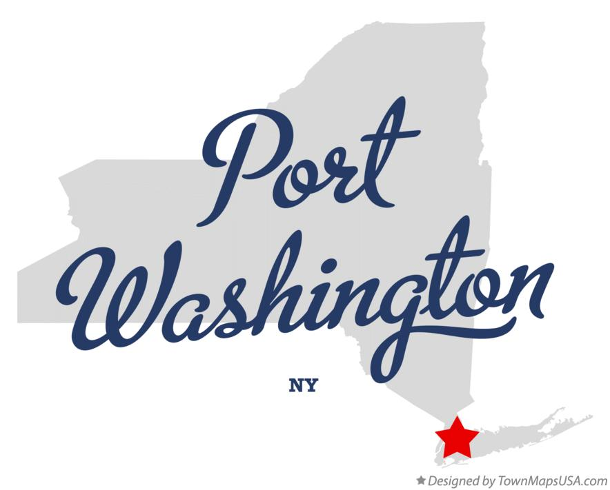 Map of Port Washington New York NY