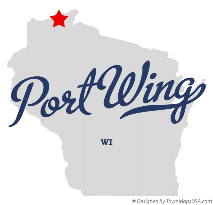 Map of Port Wing Wisconsin WI