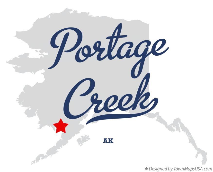 Map of Portage Creek Alaska AK