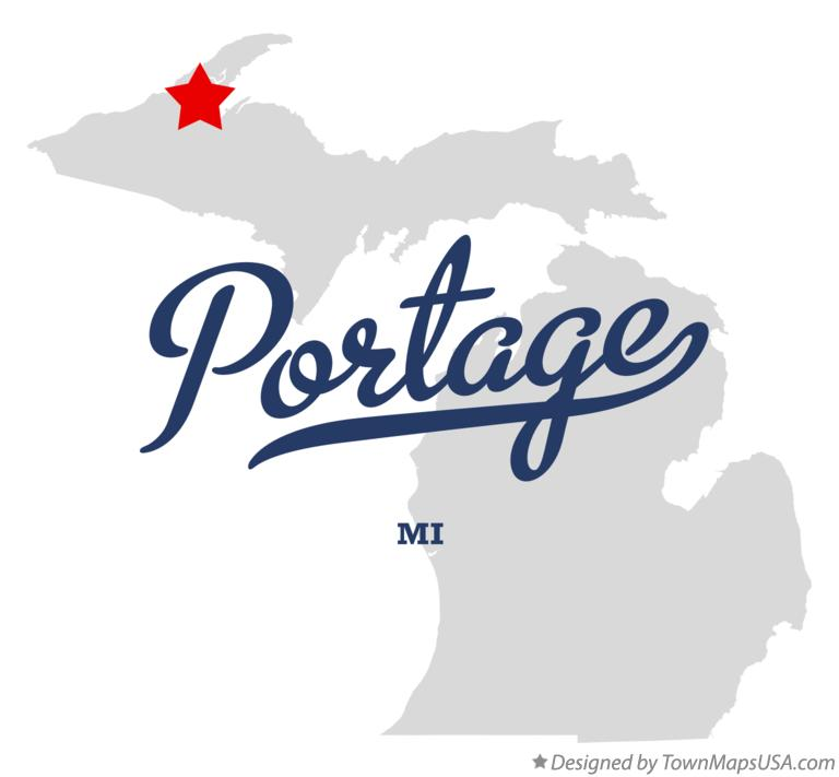 Map of Portage Michigan MI