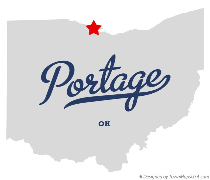 Map of Portage Ohio OH