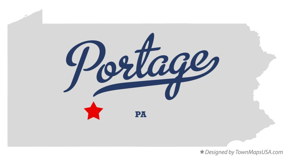 Map of Portage Pennsylvania PA
