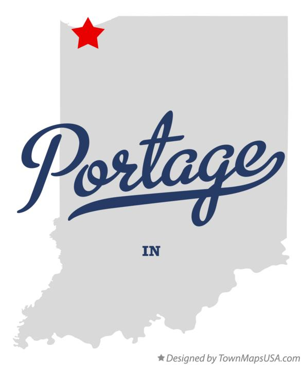 Map of Portage Indiana IN