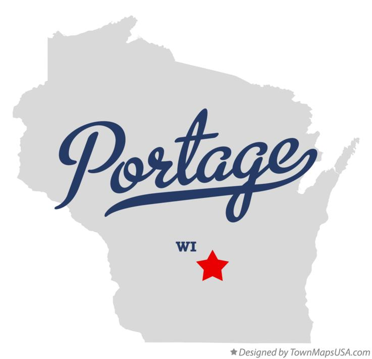 Map of Portage Wisconsin WI