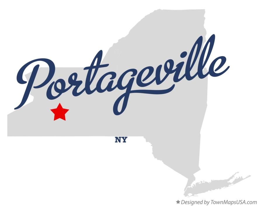 Map of Portageville New York NY
