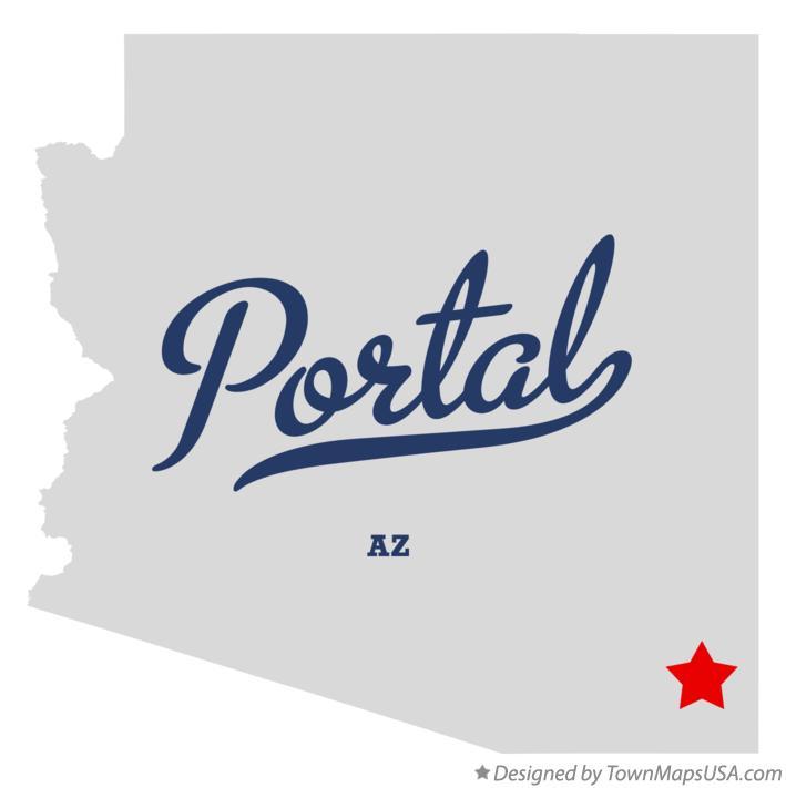 Map of Portal, AZ, Arizona