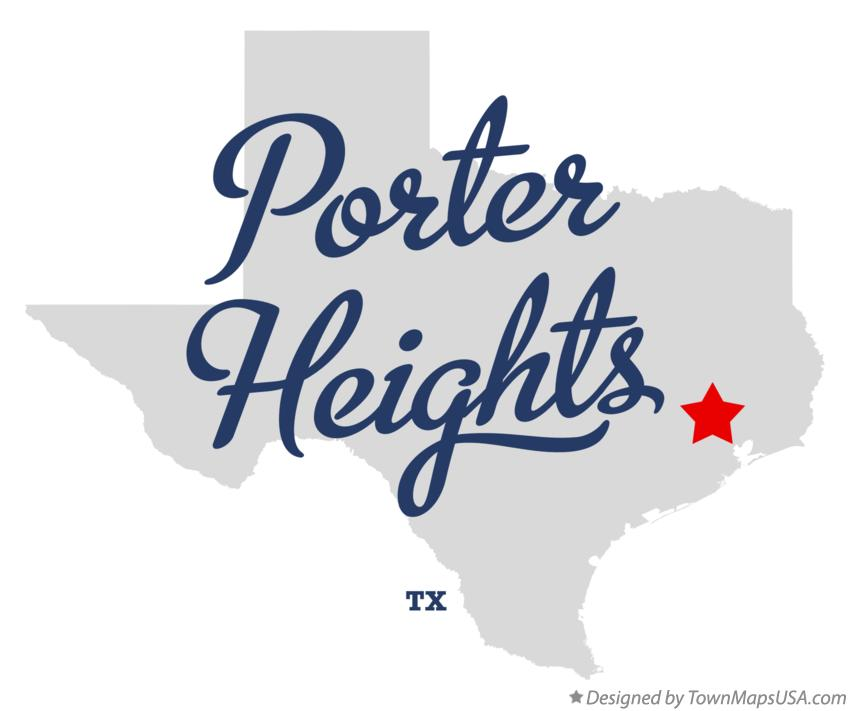Map of Porter Heights Texas TX