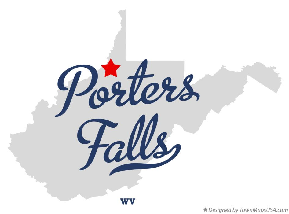 Map of Porters Falls West Virginia WV