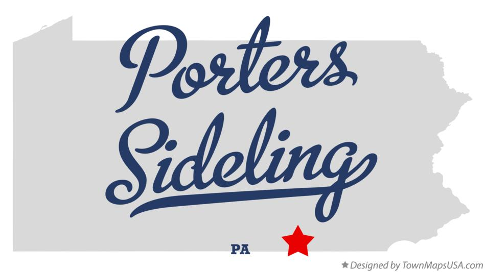 Map of Porters Sideling Pennsylvania PA